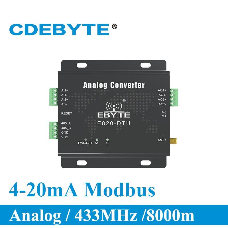 E820-DTU (2I2-433L) 433MHz Modbus Analog Erwerb 2 Kanal Wireless Transceiver 1W RS485 Interface 433 mhz RF Modul