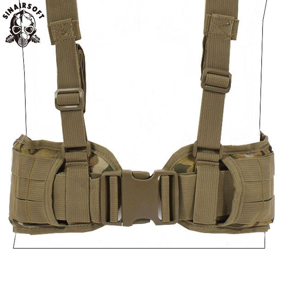 Gilet tactique ceinture Molle armée spéciale 1000D Nylon militaire ceinture de Combat pratique EAS en forme de H réglable doux rembourré
