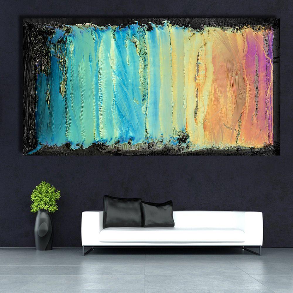 QKART décor à la maison toile mur coloré abstrait peinture à l'huile toile impression mur photos pour salon affiches et impressions Pop
