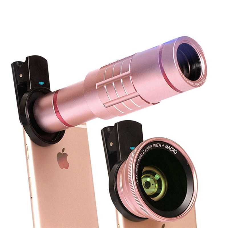 Universel Téléphone lentilles kit 18X Zoom téléobjectif 0.6X Large 15X Macro HD Objectif Pour Iphone 7 6 S Samsung S7 bord Smartphone lentille