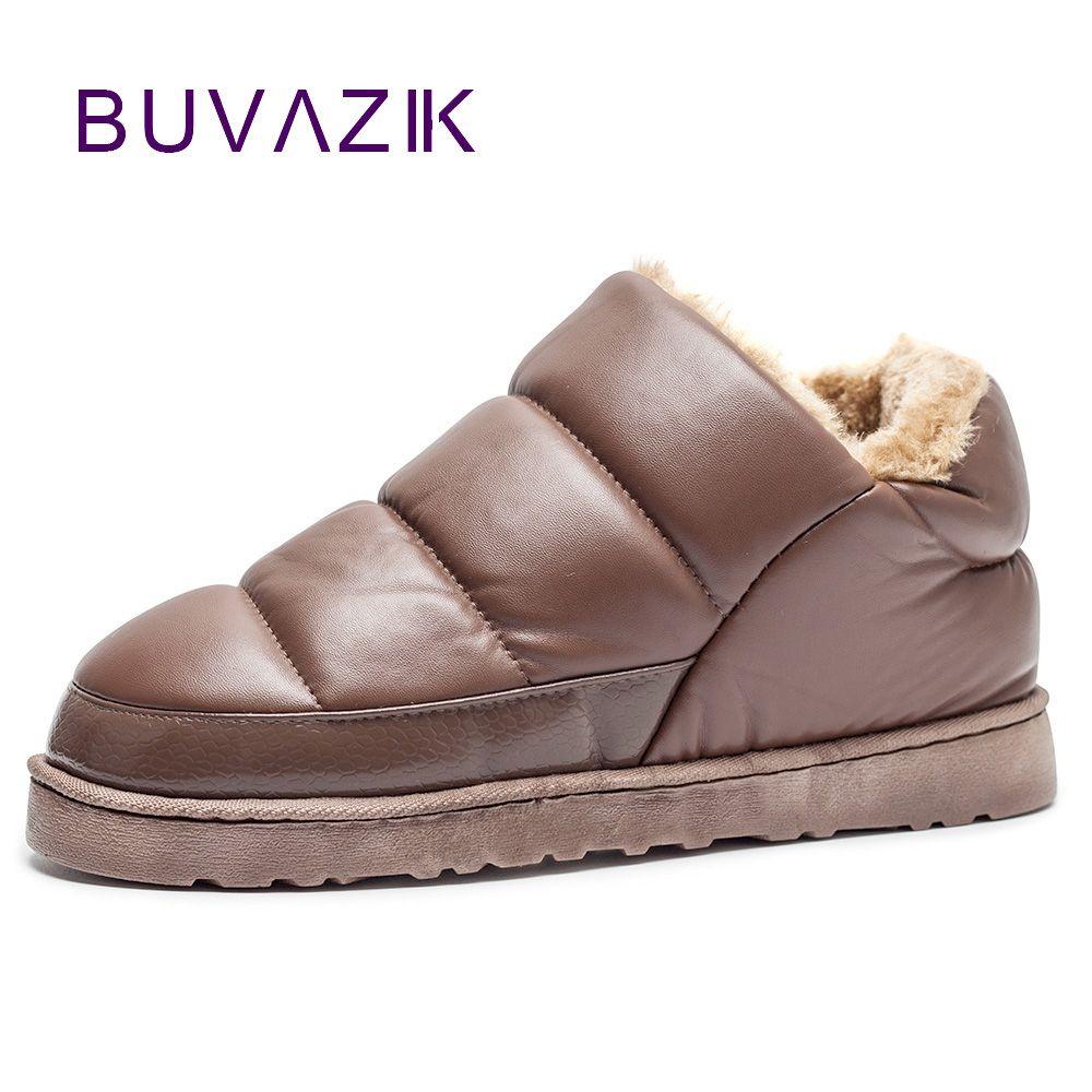 Nouveau hommes bottes de neige 2017 chaud en peluche épaissir hiver bottine en plein air hommes chaussures décontractées botas hombre imperméable chaussures taille 46