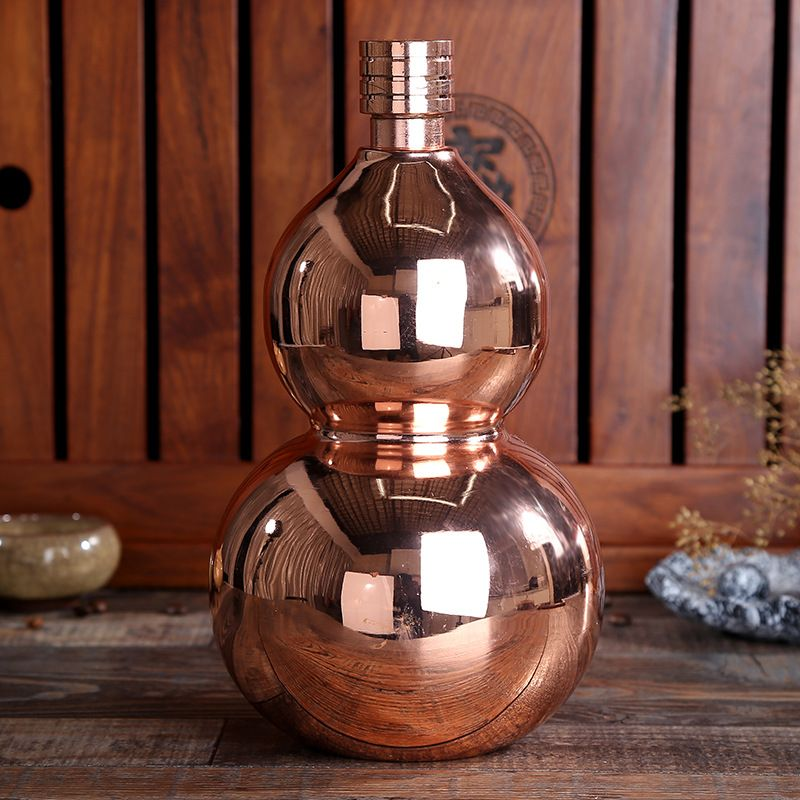 64 oz Thicken Stainless Steel Gourd Jug Fashion Decoration Bar Wine Cabinet Display Water Kettle Flagon Wine Pot Free shipping