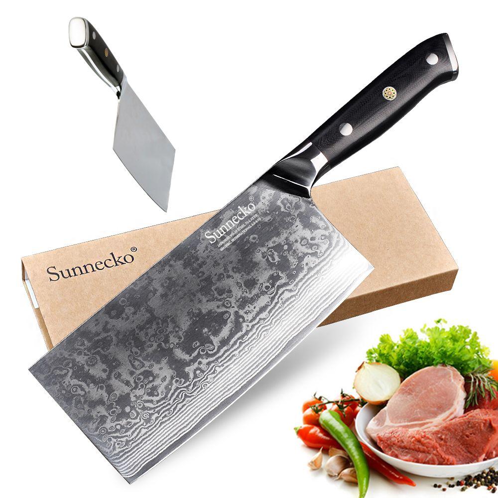 SUNNECKO Chef Messer Küche Messer Japanischen 73-Schicht Damaskus VG10 Stahl Sharp 60HRC G10 Griff 7 zoll Cleaver Messer cut Werkzeuge