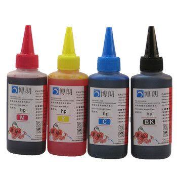 Универсальный 4 цвета чернилами для HP, 4 цвета + 100 мл, для HP премиум чернилами, вообще для HP чернил принтера все модели