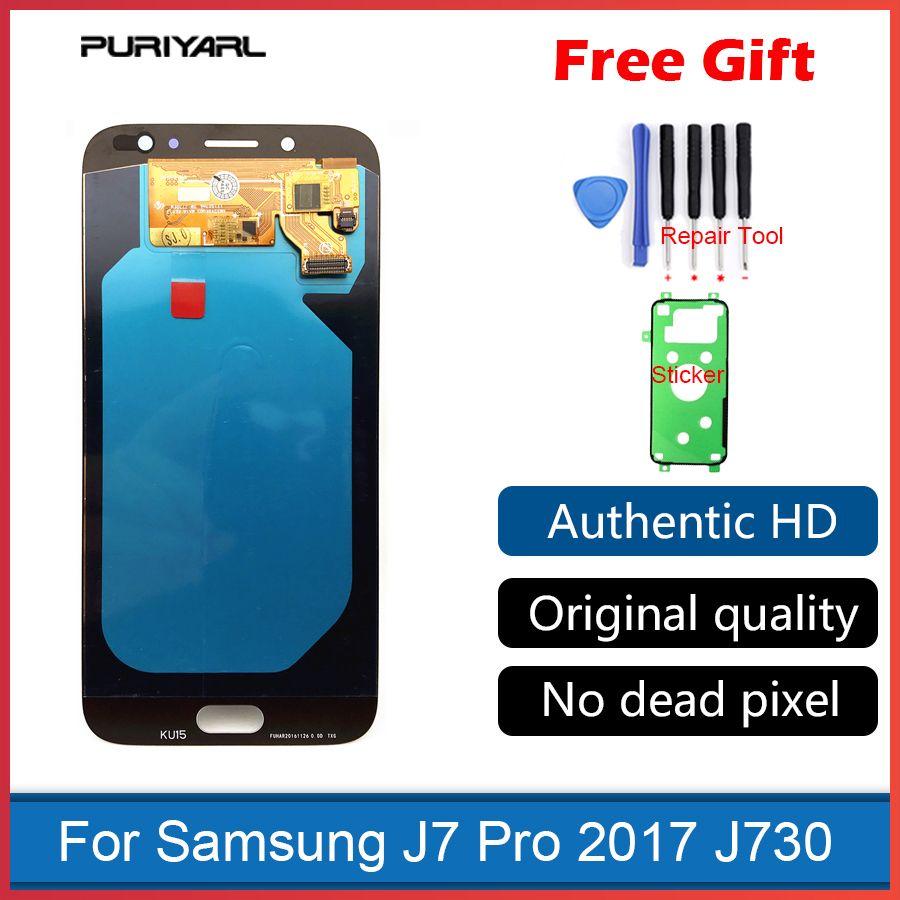 AMOLED Touch Screen Ecran LCD For Samsung Galaxy J7 2017 Pro J730 J730F LCD Display Digitizer Replacement Brightness Adjustment