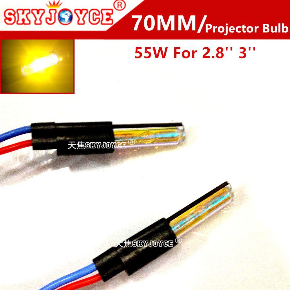 SKYJOYCE 2X Замена 55 Вт HID ксеноновая лампа для 2.8 3 ''HID объектив проектора лампа 5000 К 4300 К 6000 К 8000 К projectoor HID лампы