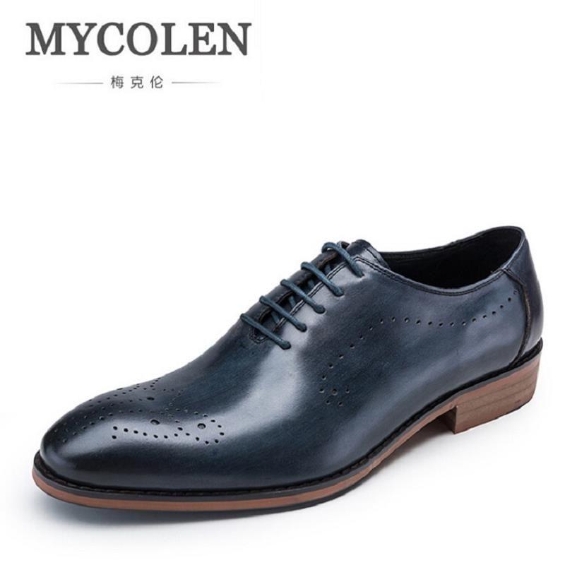 Mycolen hombres zapato de cuero hecho a mano de encargo Cuero auténtico hombres boda Zapatos minimalista de los hombres Zapatos italiano Calzado Hombre