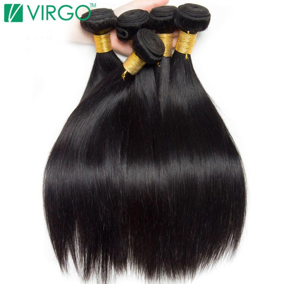 Peruvian Straight Hair Bundles Human Hair Extensions Natural Color 1 / 3 / 4 Bundle Deals Non Remy Virgo Hair Weave Bundle