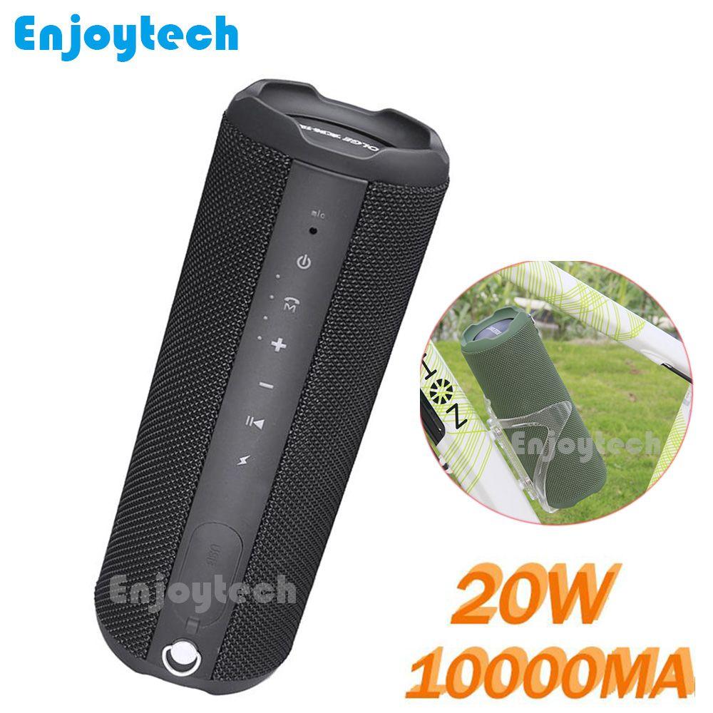 Neue 10000 mah 20 watt Radfahren Drahtlose Bluetooth Lautsprecher Für Bike Wasserdichte Tragbare Subwoofer MP3 Player für IPhone Xiaomi Handys