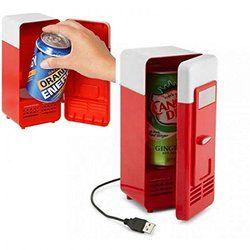 Nuevo diseño populares mini USB nevera refrigerador latas de bebida/calentador frigorífico congelador refrigerador caja botella