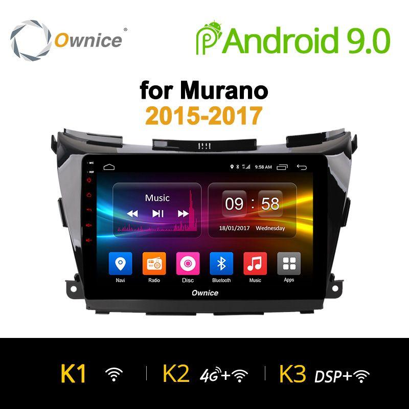 Ownice K1 K2 K3 10,1 Octa core Android 9.0 GPS NAVI DVD Radio Player Für Nissan Murano 2015 ~ 2017 unterstützung 4G SIM DAB + 32G ROM