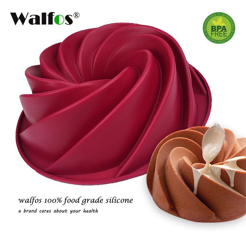 WALFOS 1 pc silicone gâteau moule grand Bundt gâteau casserole tourbillon Silicone cuisson moule pain cuisson moule pâtisserie ustensiles de cuisson