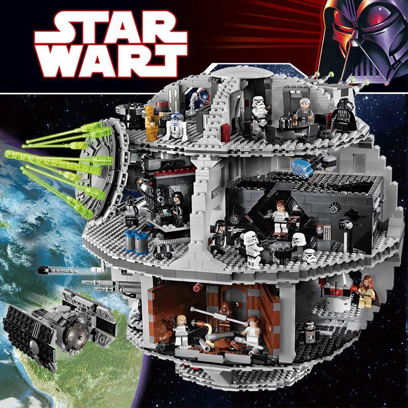 3803 stücke Bricks Set Große Star Neue Krieg Kraft Geweckt UCS Kompatibel legoINGLYS Death Star Educational Bausteine Spielzeug Von jungen