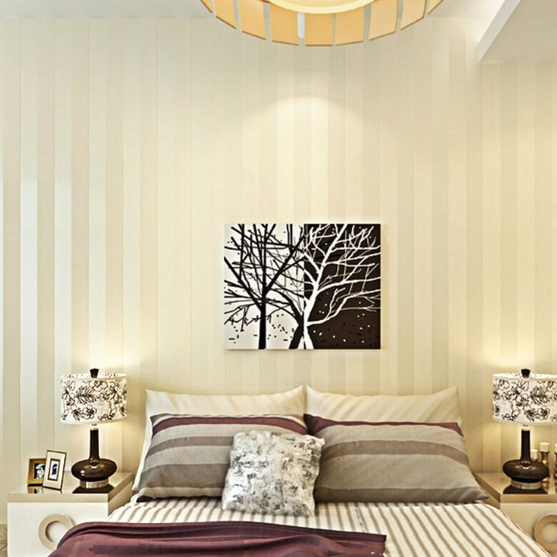 Modern Minimalist Wall Paper Wallcovering Stripe Glitter Non-woven Background Wallpaper For LivingRoom Papel De Parede Home Deco