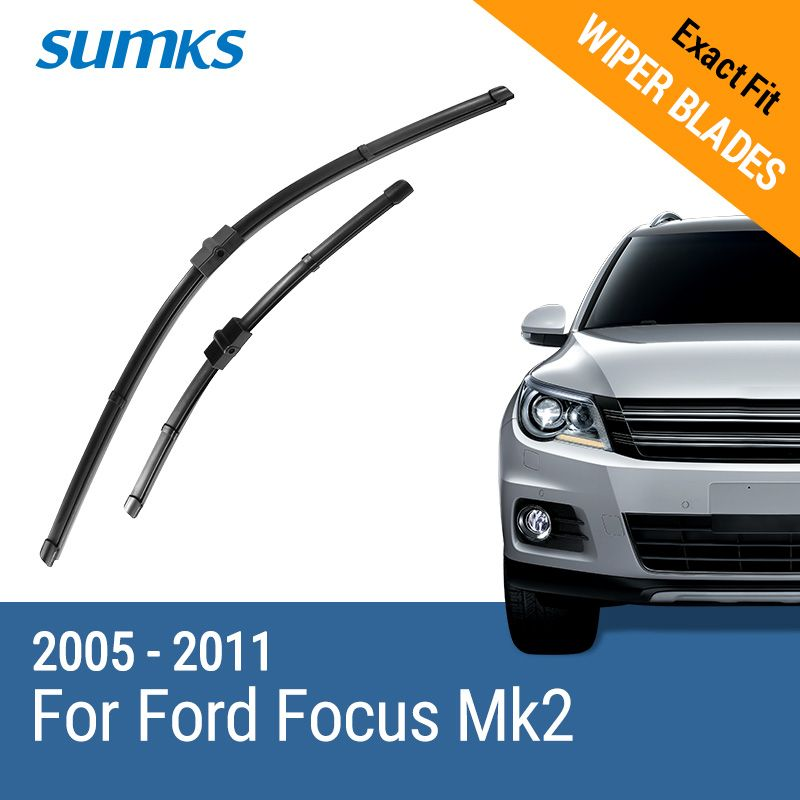 Sumks limpiaparabrisas para Ford Focus Mk2 hatchback Estate/convertible/Sedan/c-max 2005 2006 2007 2008 2009 2010 2011