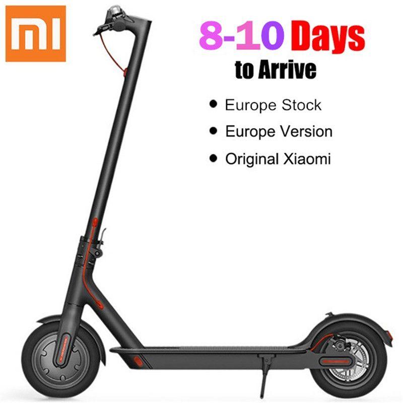 Xiaomi M365 Klapp Elektrische Roller Europa Lager 2 Rad Elektro-scooter 10 Zoll 42 v 250 watt Erwachsene Faltbare Elektrische skateboard