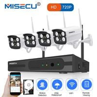 MISECU легкая установка plug & play 2.4g wifi комплект 720 P 1080 P VGA/HDMI 4CH NVR Беспроводной P2P 720 P WI-FI IP Камера Водонепроницаемый CCTV