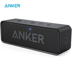 Anker Sound Core Speaker Portabel Bluetooth Nirkabel dengan Dual-Driver Bass Yang Kaya 24 H Waktu Bermain 66 Ft Jangkauan Bluetooth & built-In MIC