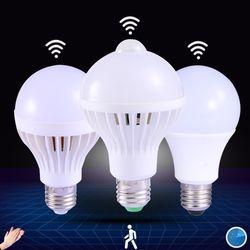 1 шт. PIR датчик движения лампы 5 Вт из светодиодов E27 лампа 7 Вт 9 Вт авто смарт из светодиодов пир инфракрасный фонарь тело с движения-сенсор фа...