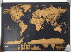 drop shipping  Deluxe blow poster Personalized scratch off World map poster Mini Foil Layer Coating Poster wall sticker 82x59cm