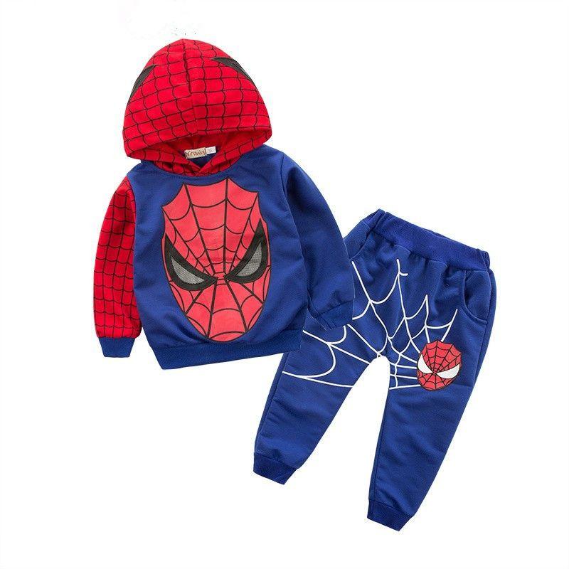 2017 Nouveaux Garçons vêtements survêtement Spiderman 2 pcs/ensemble costumes enfants ensemble de vêtements roupas infantis menino enfants manteau + pantalons ensembles