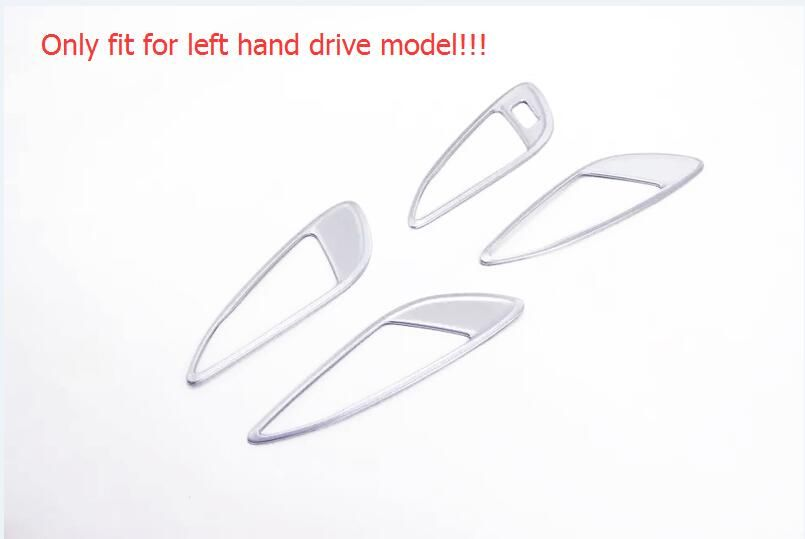 Only Fit For Left Hand Drive 2016 2017 For Opel Astra K 4pcs Matte Inner Handle Bowl Cover Trim Car-styling
