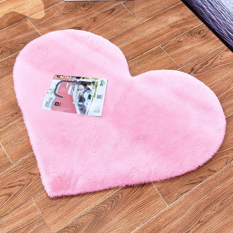 ROWNFUR tapis en fausse fourrure pour salon maison enfants chambre poilu moelleux anti-dérapant tapis de sol amour coeur en peluche doux fausse fourrure tapis