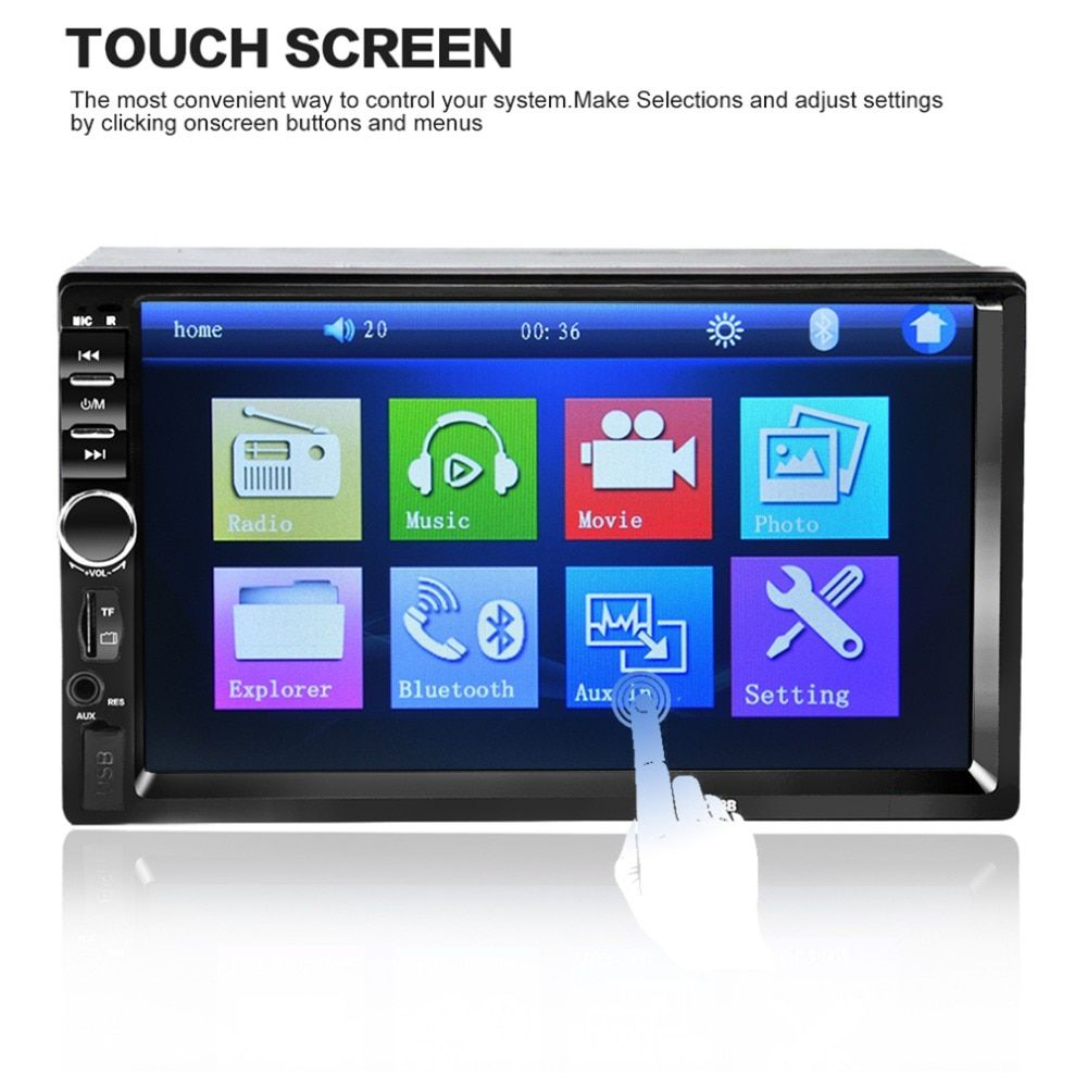 2018 Hot Sale 7018B 7 Inch Bluetooth Audio In Touch Screen Car Radio Car Audio Stereo Car MP3 MP5 Player USB Support for SD/MMC
