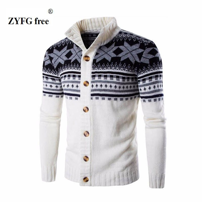 2018 New style men's casual sweater autumn fashion brand stand collar striped Slim knit men's sweater and national <font><b>wind</b></font> pullover