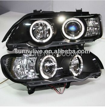 For BMW X5 E53 Head Lamp Angel Eyes1998 to 2004 year SN