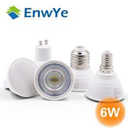 EnwYe E27 E14 MR16 GU5.3 GU10 Lampada LED Ampoule 6 W 220 V Bombillas LED Lampe Spotlight Lampara Spot Light