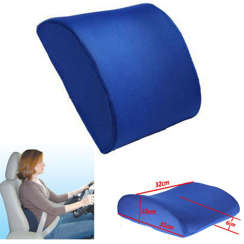 Universal Car Back Seat Support Memory Foam Car Lumbar Back Brace Support Cushion Pillow Car Seat Home Office Breathable  New