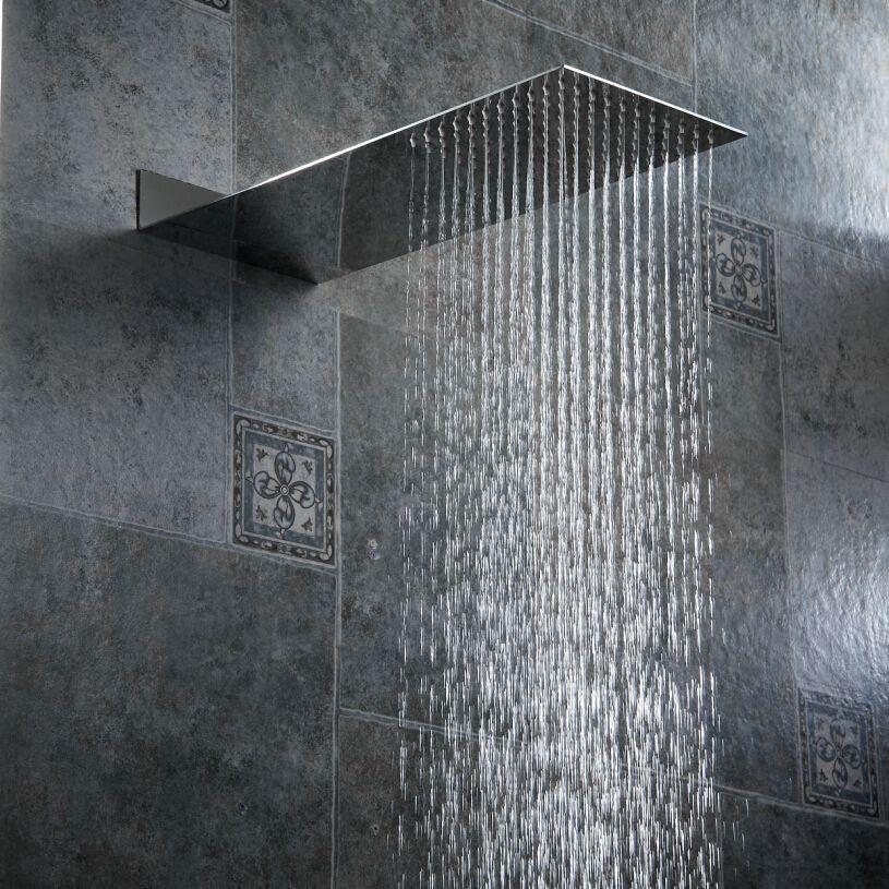 BECOLA pommeau de douche salle de bain pression dans le mur pommeau de douche dissimulé pommeau de douche Ultra fin en acier inoxydable