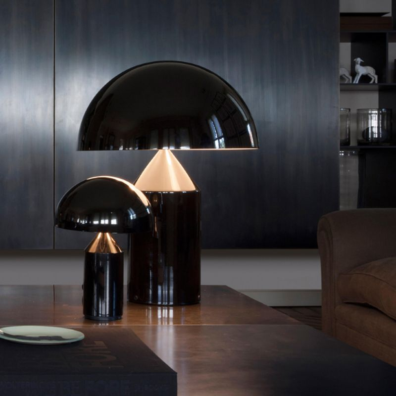 Modern creative electroplating golden mushroom design table lamp simple metal bedroom decoration bedside deck LED lighting