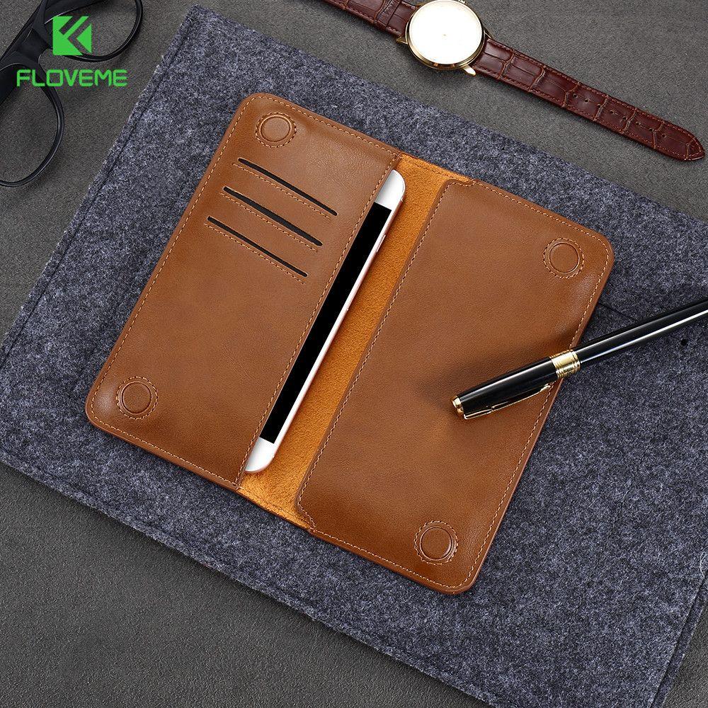 FLOVEME portefeuille en cuir rétro étui pour lg G5 G4 G3 mode universel sac pour téléphone portable étui pour iphone Samsung Xiaomi