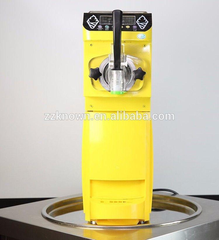 Multipurpose new style ice cream maker 5L/H soft ice cream machine with 1 hopper