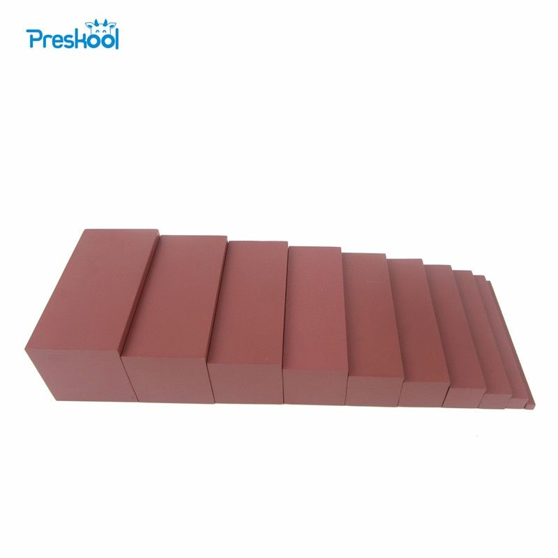 Montessori Family Version Brown Stair Width 0.7 cm to 7 cm Early Childhood Education Preschool Training
