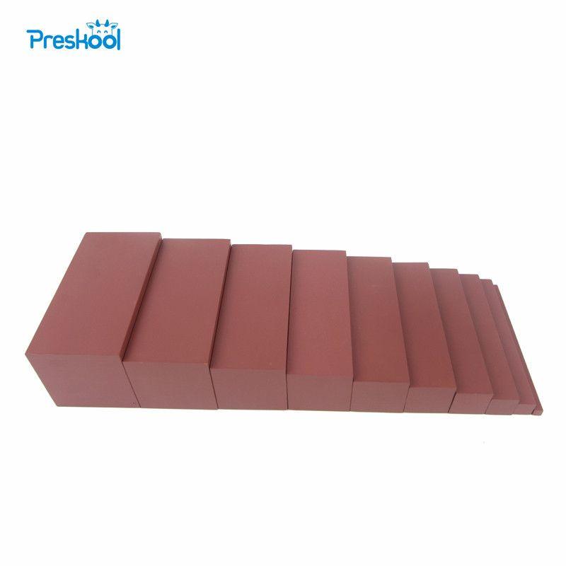 Montessori Version familiale marron escalier largeur 0.7 cm à 7 cm éducation de la petite enfance formation préscolaire