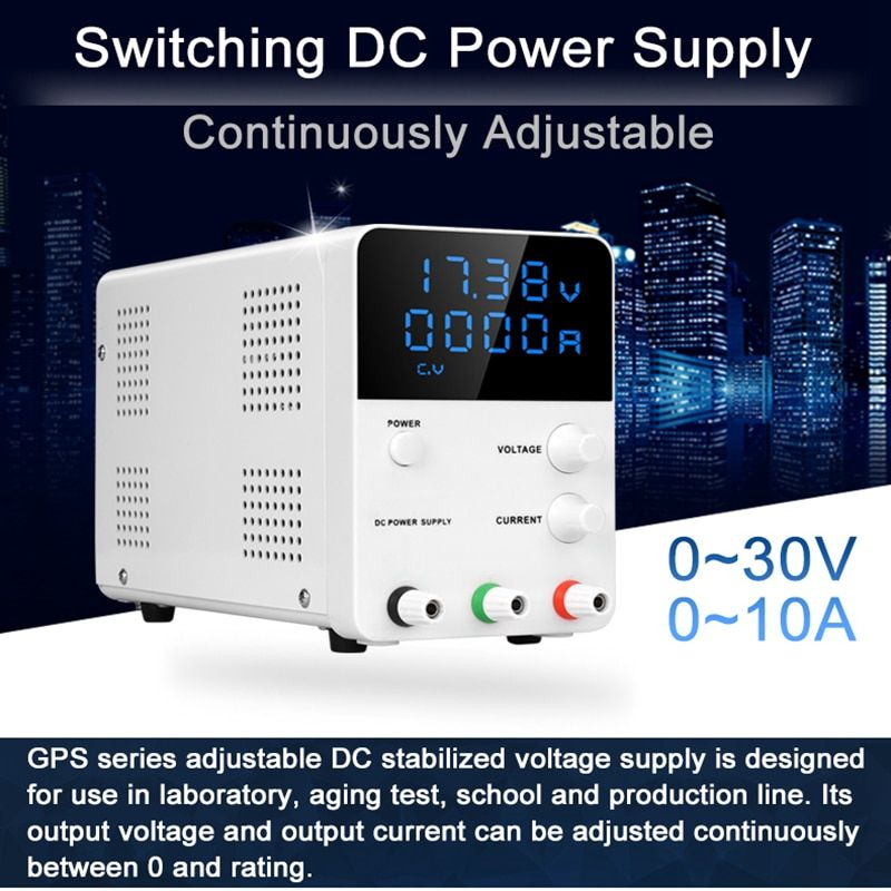 Wanptek Digital SMPS Dc Power Supply 30V 10A Voltage Regulator 0.01V 0.001A Continuous Adjustable Laboratory
