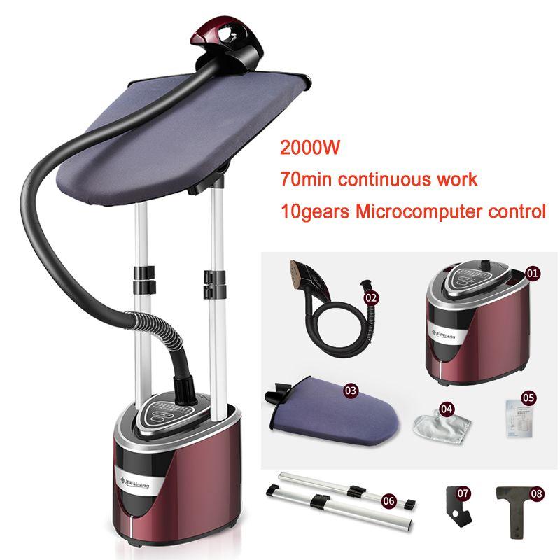 22%, 2000 w Vertikale Garment Steamer Handheld Elektrische eisen 10-speed thermostat Keramik kopf 2 Unterstützung mit bügelbrett 2.0L