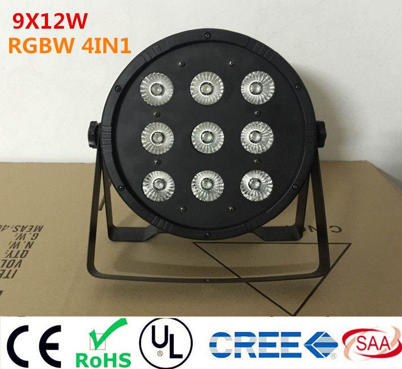 9x12 Вт светодиодный плоский SlimPar Quad Light RGBW 4IN1 LED DJ мыть свет сценический uplighting без Шум