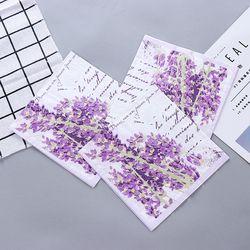 Vintage Bunga Lavender Dragonfly Serbet Kertas Cafe & Pesta Tissue Napkin Decoupage Dekorasi Kertas 33 Cm * 33 Cm 20 buah/Bungkus/Lot