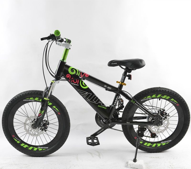 PULID 20-inch kids mountain bike for Boys & Girls Bicycles mechanical disc brake 2 colors unisex children Sports steel bikes