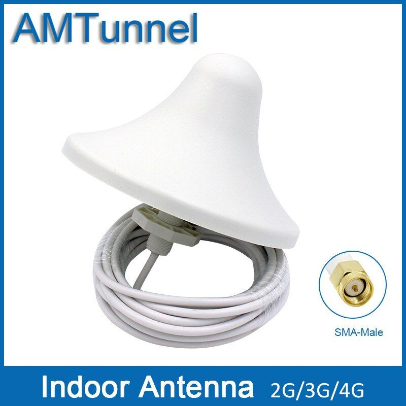 4G antenna 3G omni antenna 4G indoor antenna 5dBi 2G external antenna with 5m cable and with SMA male connector for indoor use