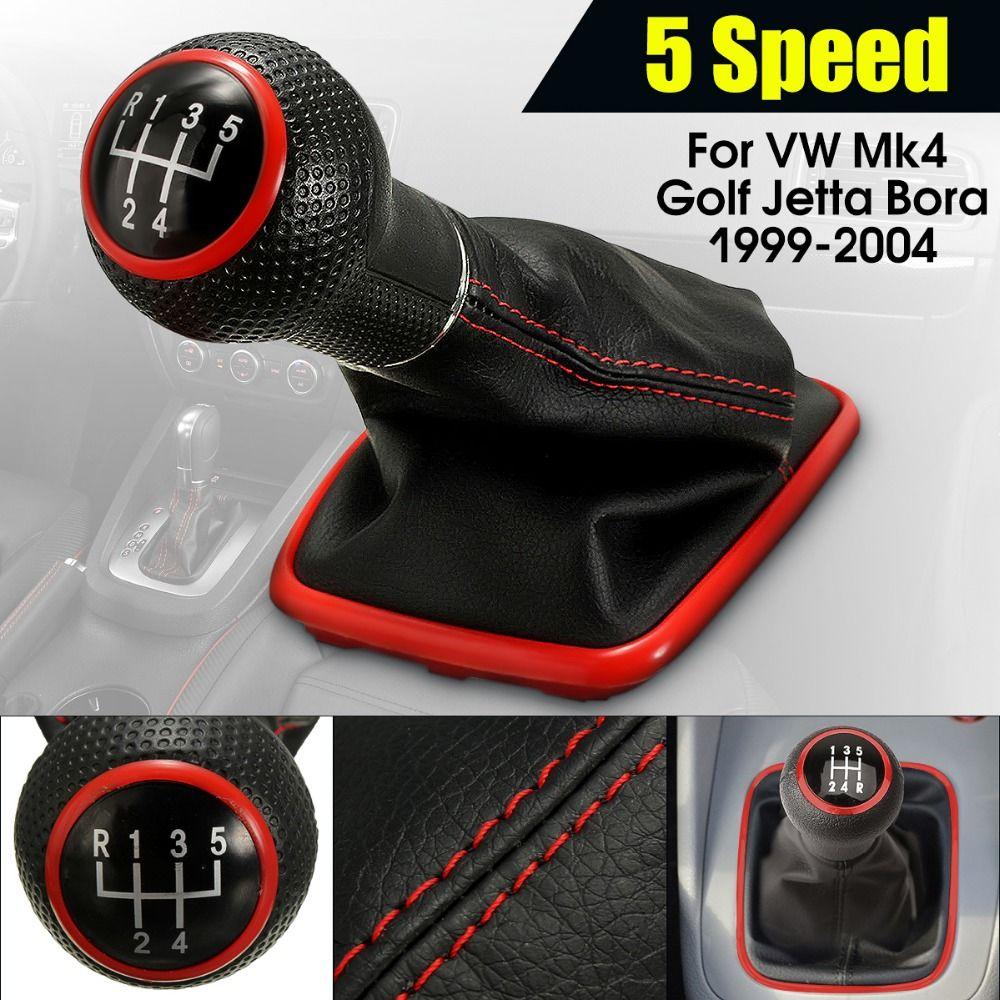 Neu 5 Geschwindigkeit Schaltknauf Gamasche Hebel Shifter-Boot Für VW Mk4 Golf Jetta Bora Jetta MT 1999- 2004 auto Styling