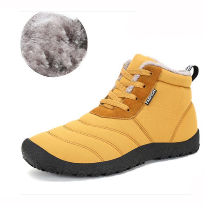 Mannen Winter Sneakers 2017 Wandelschoenen laarzen Mannen Schoeisel Warm Houden Sneeuwschoenen Trekking Laarzen Outdoor Grote Ma