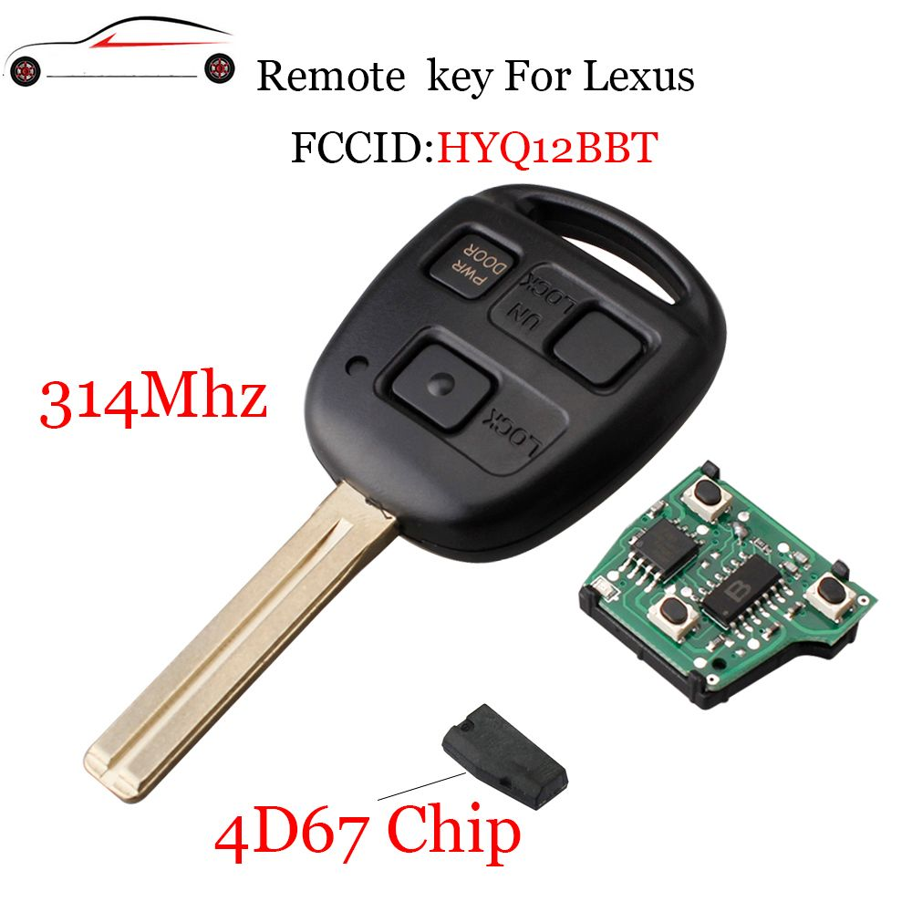 GORBIN 314Mhz 3Buttons Remote key For Lexus RX330 2004-2006 For Lexus RX350 2007-2009 For Lexus HYQ12BBT Transponder Chip 4D67