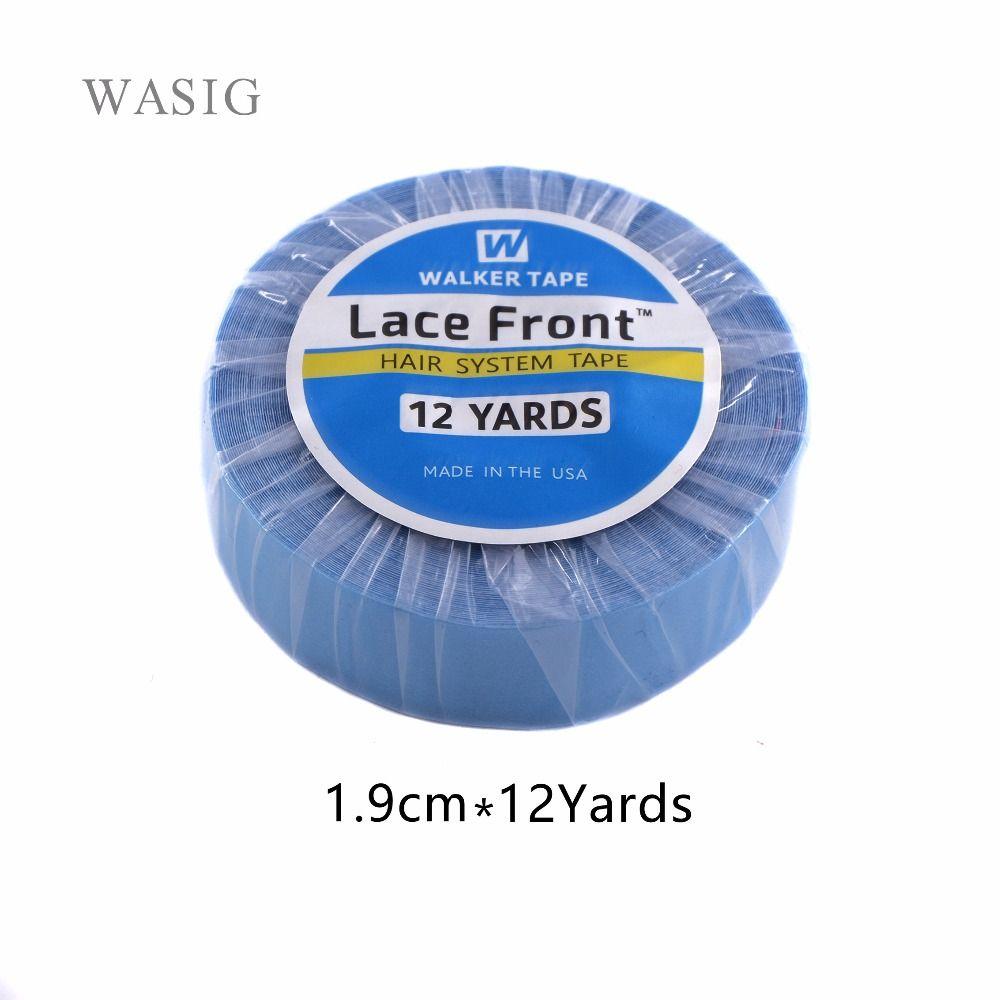 Сильный Синтетические волосы на кружеве Поддержка Клейкие ленты 12 ярдов 1.9 см бисером Клеящие средства Клейкие ленты для Клейкие ленты воло...