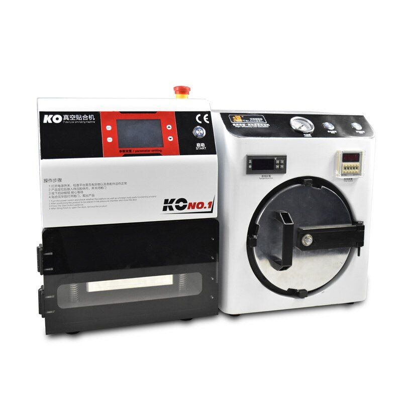 NEW Mini High Pressure OCA Adhesive Sticker LCD Bubble Remove Machine+OCA Vacuum Laminator Machine for 7 inch Screen Repair