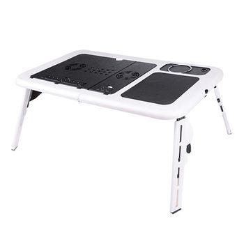 Pliable Portable pour ordinateur portable Table Stand Lit Plateau Double Fans